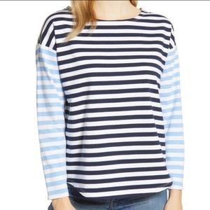 Vineyard Vines Mixed Blue Striped Long Sleeve Top